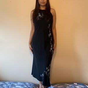 Jones New York Beaded Black Dress